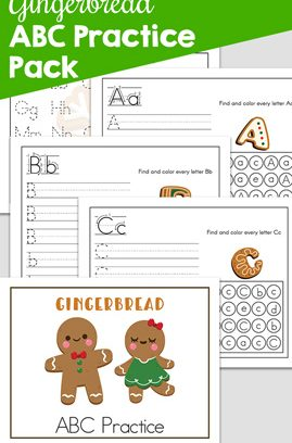 Gingerbread ABC Practice Pack