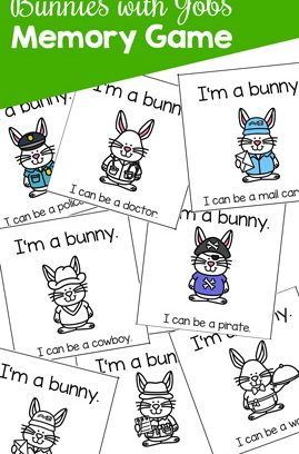 Bunnies with Jobs Memory Game