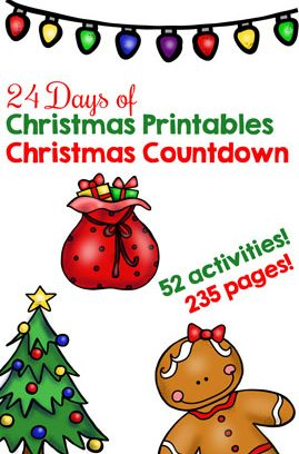 24 Days of Christmas Printables Christmas Countdown