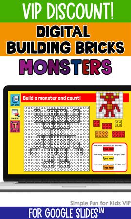 Digital Building Bricks Monster Build and Count Challenge