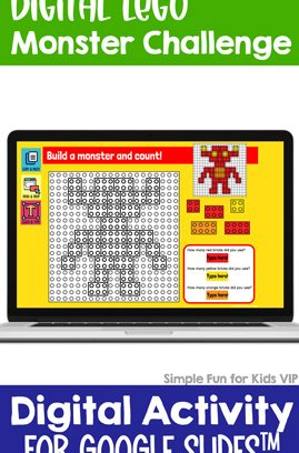 Digital LEGO Monster Build and Count Challenge