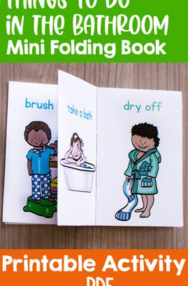 Things to Do in the Bathroom Mini Folding Book