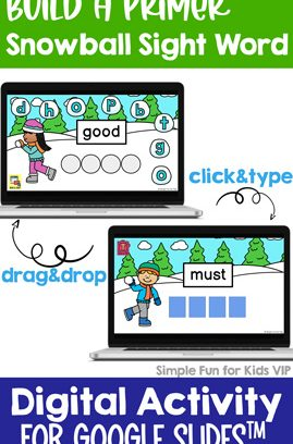 Digital Build a Primer Sight Word Mini Bundle