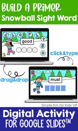 Digital Build a Primer Sight Word Mini Bundle