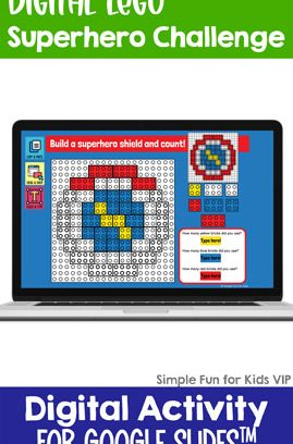 Digital LEGO Superhero Build and Count Challenge