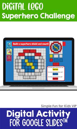 Digital LEGO Superhero Build and Count Challenge