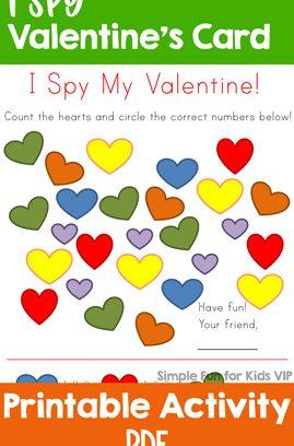 I Spy Valentine's Card