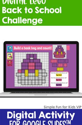 Digital LEGO Back to School Build and Count Challenge