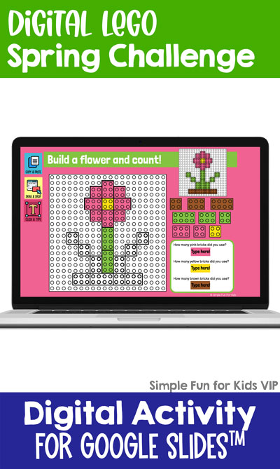 Ten fun and engaging EDITABLE spring-themed digital LEGO challenges for distance learning with Google Slides and Google Classroom. Students can practice skills such as copying & pasting, dragging & dropping, typing in text boxes, and counting in a super-engaging way.