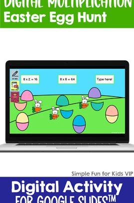 Digital Multiplication Easter Egg Hunt