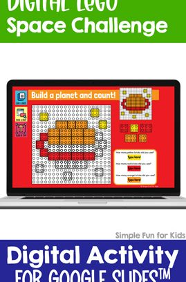 Digital LEGO Space Build and Count Challenge