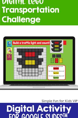 Digital LEGO Transportation Build and Count Challenge