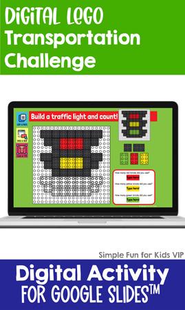 Digital LEGO Transportation Build and Count Challenge