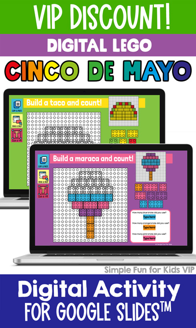 Ten fun and engaging EDITABLE Cinco de Mayo-themed digital LEGO challenges for distance learning with Google Slides and Google Classroom. Students can practice skills such as copying & pasting, dragging & dropping, typing in text boxes, and counting in a super-engaging way.