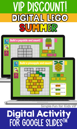 Ten fun and engaging EDITABLE summer-themed digital LEGO challenges for distance learning with Google Slides and Google Classroom. Students can practice skills such as copying & pasting, dragging & dropping, typing in text boxes, and counting in a super-engaging way.