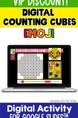 Digital Counting Cubes Emoji Build and Count Challenge