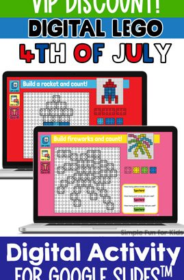 Digital LEGO 4th of July Build and Count Challenge