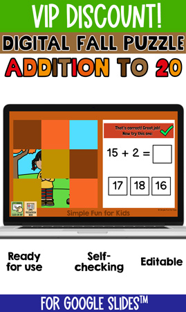 Addition to 20 Digital Fall 9-Piece Puzzle