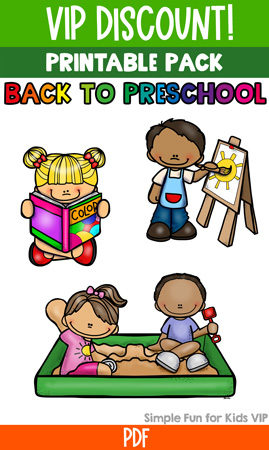 Printables for Kids: Back to Preschool Printable Pack to go with the book Maisy Goes to Preschool; I Spy games, dot marker letters, prewriting tracing, puzzles, and more!