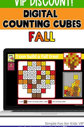 Digital Counting Cubes Fall Build and Count Challenge